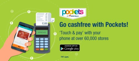 Pockets by ICICI Bank Touch