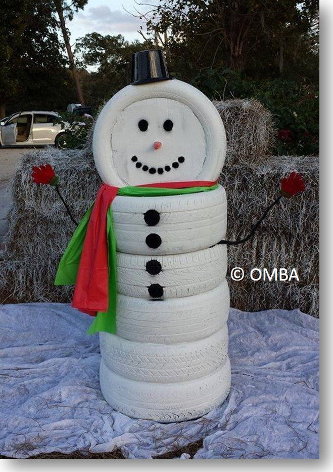 Creative Ideas   DIY Adorable Snowman Decor from Old Tires     Creative Ideas   DIY Adorable Snowman Decor from Old Tires 1