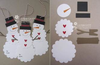 snowman Archives   i Creative Ideas Creative Ideas     DIY Cute Paper Snowman Gift Tag