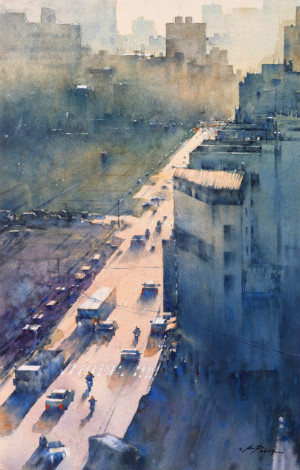 "Chuang Kai Ping ""Dim light of city-8"""