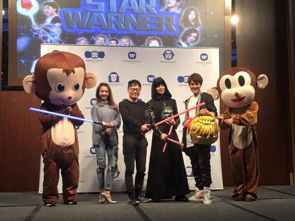 Warner Music Jolin Tsai JJ Lin Kenji Wu monkey Year End Banquet