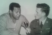 AFNT DJ Bob Smith interviewing Chubby Checker, 1963