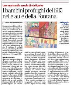 Articolo de La Stampa, 8.6.2015, sulla mostra dell'Archivio Storico Fontana