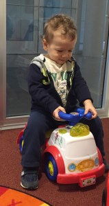Idan in the SCCA House Play Room