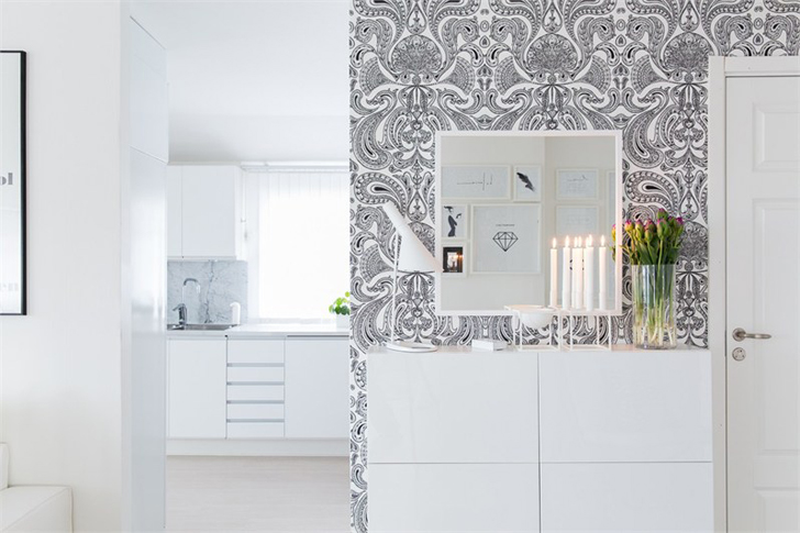 Black and White Interior in Sweden