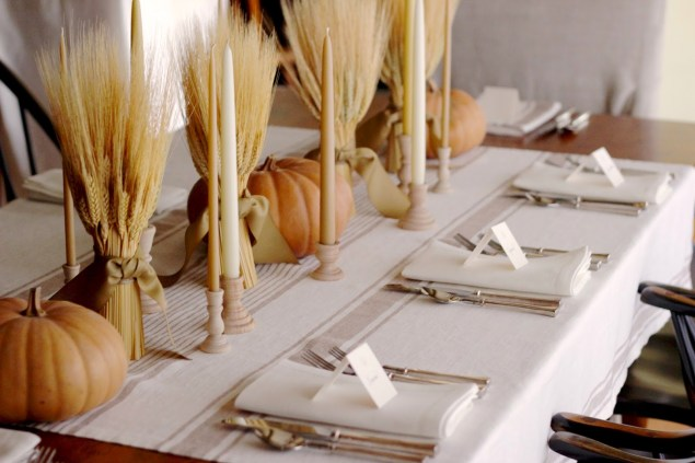 Wheat Table Decoration For Thanksgiving