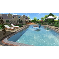 Extraordinary Sample Swimming Design Landscape Design Software Gallery Backyard Landscape Designs Backyard Landscaping Designs