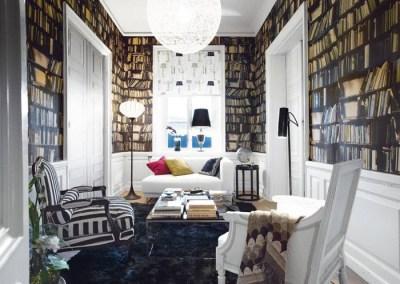 Fake Bookshelf Wallpaper   iDesignArch   Interior Design, Architecture & Interior Decorating ...