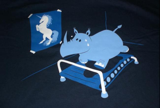 Runnin rhino Threadless shirt