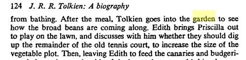Tolkien in his vegetable garden