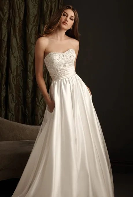 I do take two simple satin wedding gowns for your second for Wedding dresses second time around brides