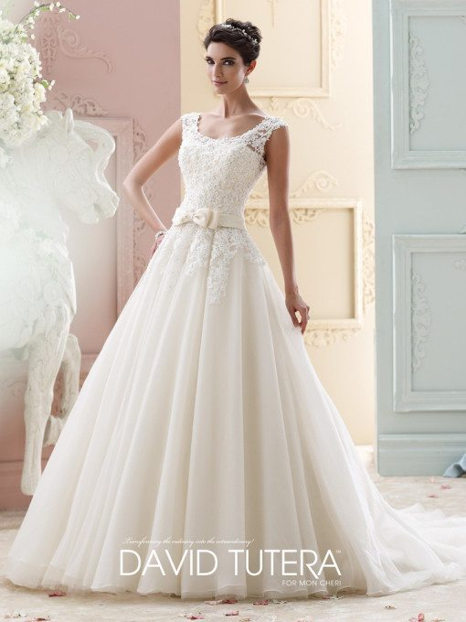 Sweet, sophisticated and timeless, this one is a favorite among all of these unique designs because of its sheer bridal glow.