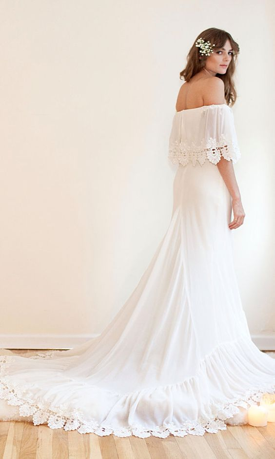 Bohemian with the movement and flow of a romance novel, this off-the-shoulder beauty is one of my personal favorites.