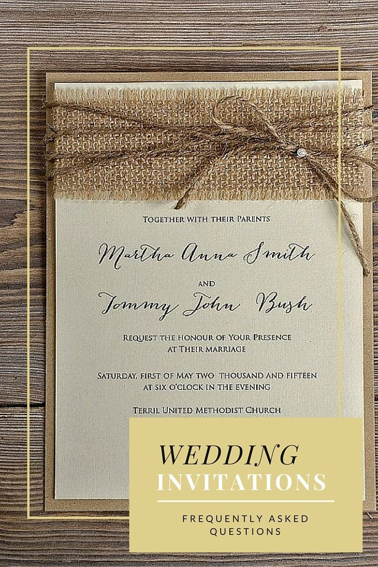 wedding invitations faqs