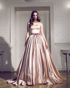 Here's another ball gown that's filled with a feminine, posh spirit that will fit perfectly down your 10-year vow renewal aisle.