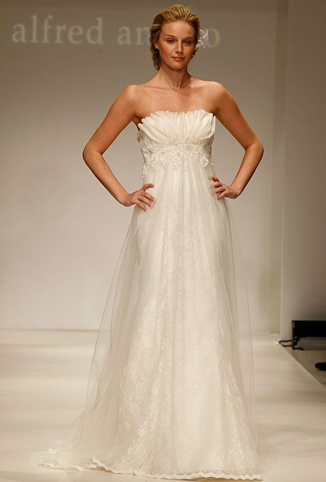 I do take two flattering wedding gowns with empire waistlines for Modern vintage lace wedding dress