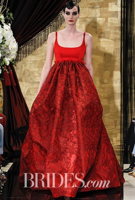 Whether you want to be a seasonal bride for Christmas or Valentine's Day or you just love red, this gown is sure your cause a stir.