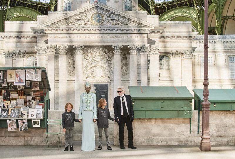 O Karl Lagerfeld με την ανατρεπτική νύφη της Chanel