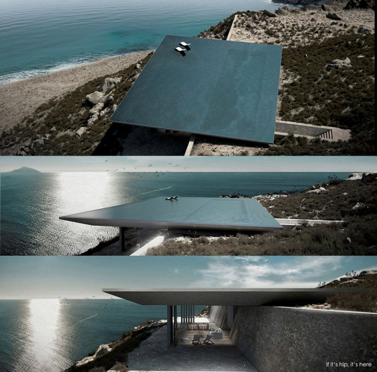 Rimless Swimming Pool Serves As Roof For Mirage House In