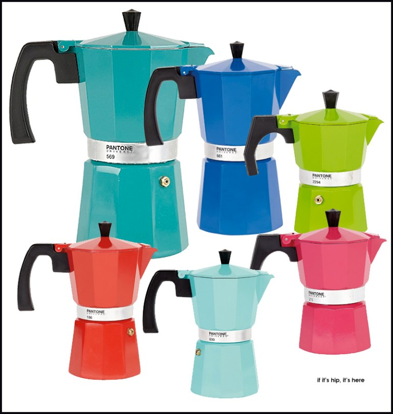 Pantone Italian Coffee Maker : Percolate In Style With Pantone Universe Coffee Pots. - if it s hip, it s here