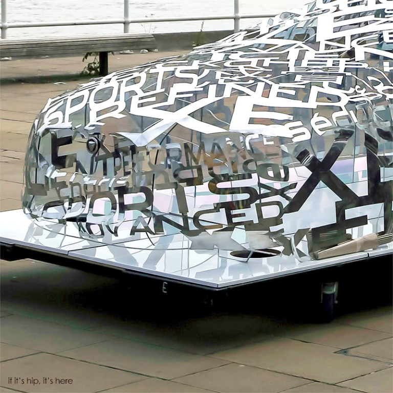 Jaguar XE Word Sculpture