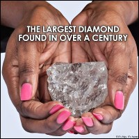 Ice, Ice Baby! Tennis Ball Size Diamond Is Largest Found In Over A Century.