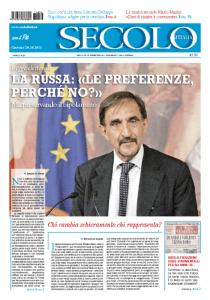 una copertina del Secolo d'Italia