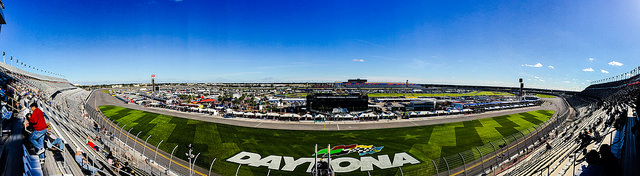 Panoramic View of the Daytona International Speedway by piresdennis is licensed under CCBY-ND 4.0
