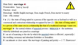 Merriam Webster dictionary changes the definition of marriage