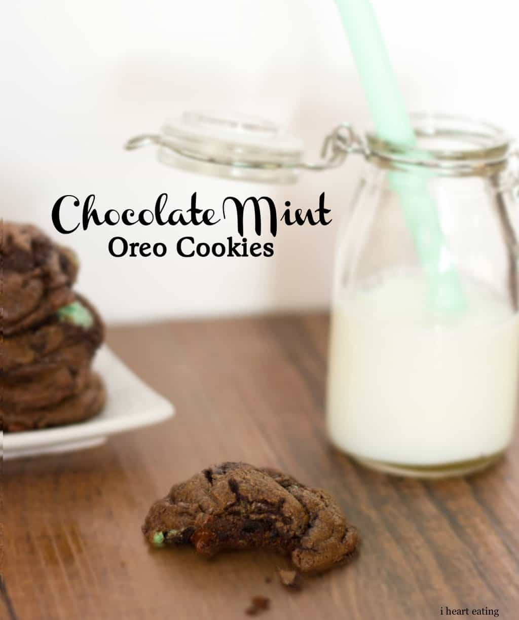 mint oreo chocolate chip cookies - i heart eating
