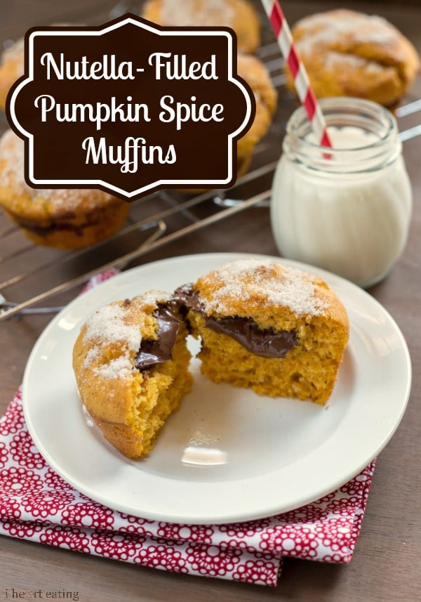 Nutella-Filled Pumpkin Spice Muffins