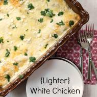 {Lighter} White Chicken Enchiladas