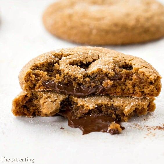 Chocolate-Stuffed Gingerbread Cookies
