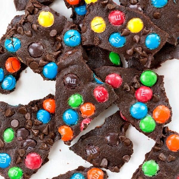 M&M Brownie Bark   #easy #dessert #recipe #shop