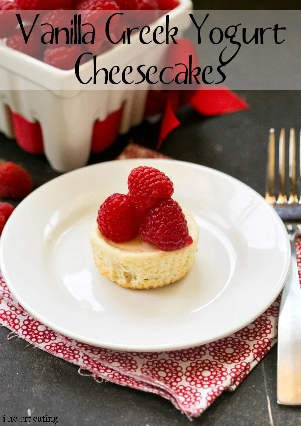 Individual Vanilla Greek Yogurt Cheesecakes