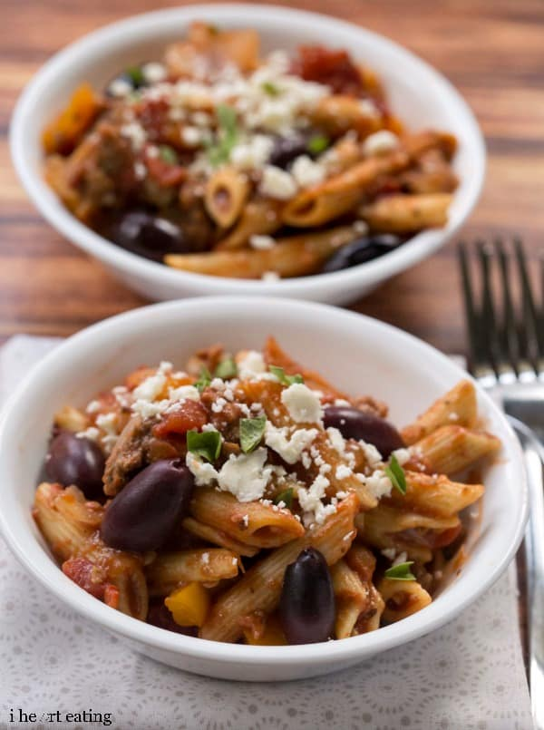 One-Skillet Greek Pasta