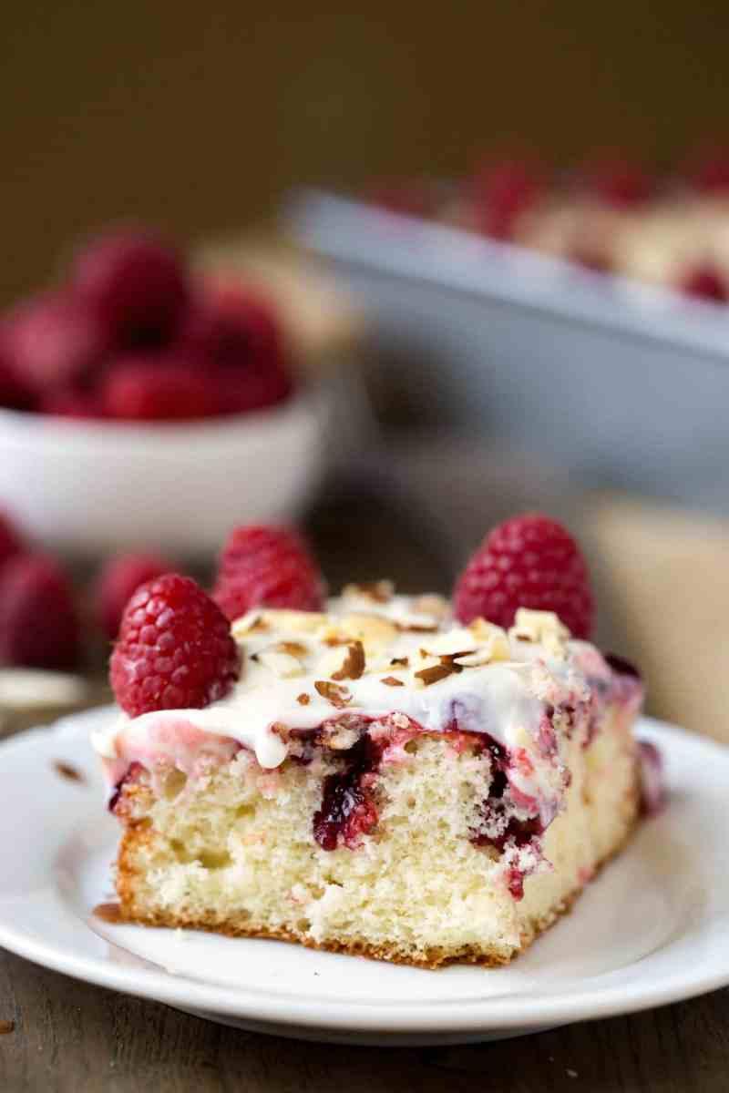 White Raspberry Poke Cake