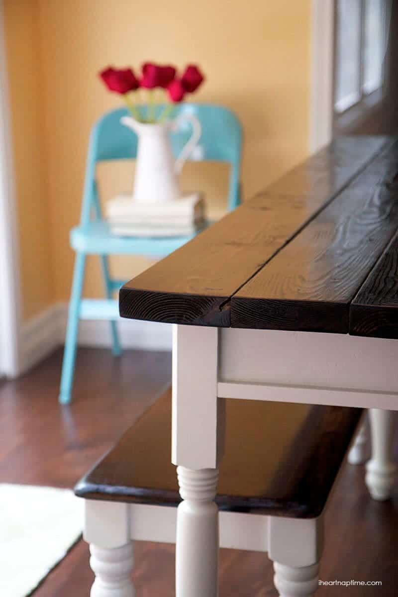 diy farmhouse kitchen table farmhouse kitchen table sets DIY farmhouse kitchen table on iheartnaptime com