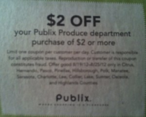 publix coupon produce