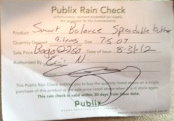publix rain checks
