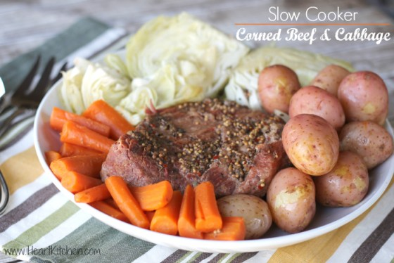 ... starting 3/13 (3/12 for some) - Slow Cooker Corned Beef and Cabbage