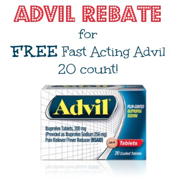 Great Advil Rebate for FREE Fast Acting Advil