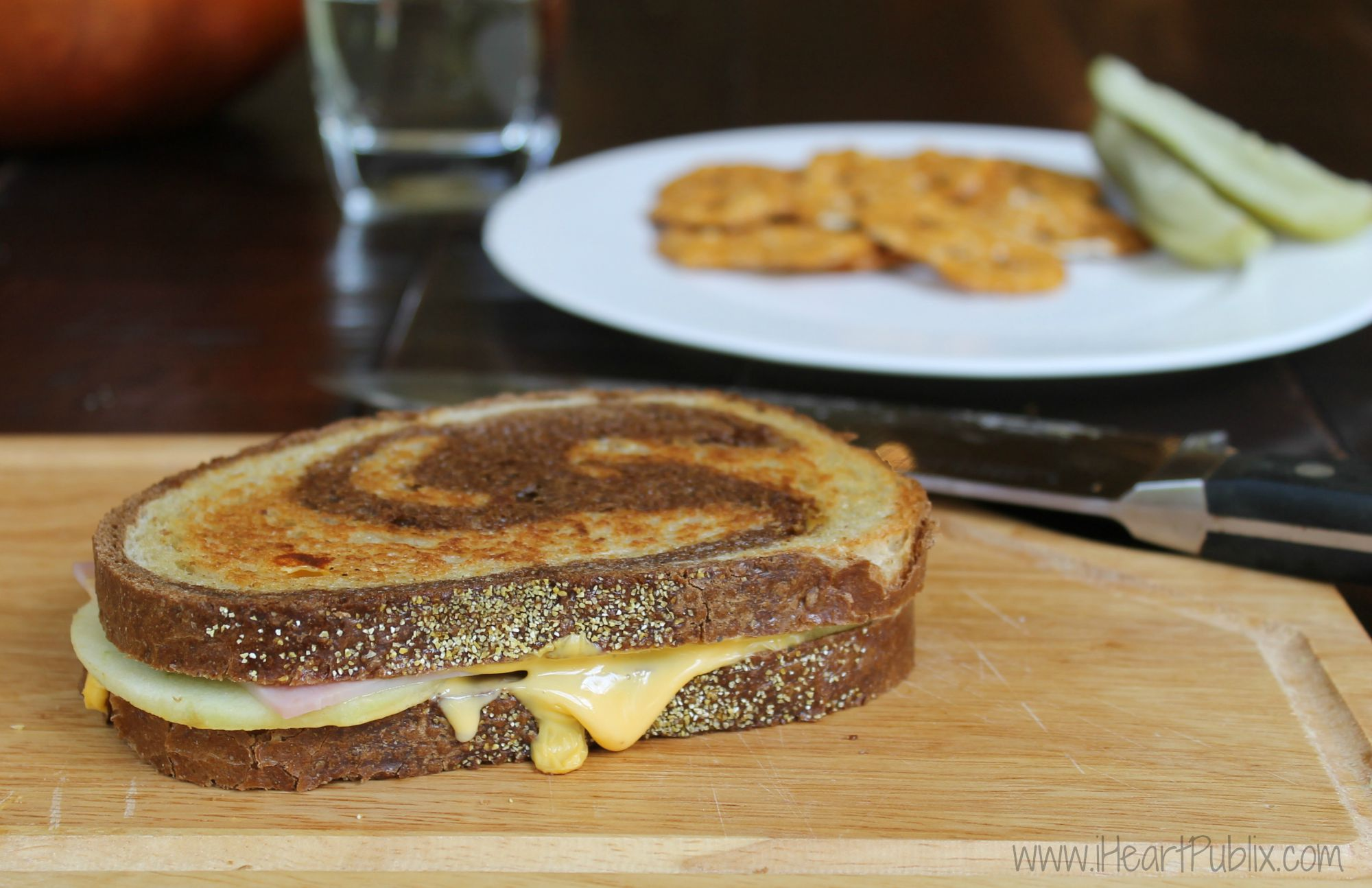 Grilled Ham & Cheese with Apple