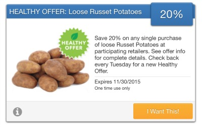 savingstar potatoes