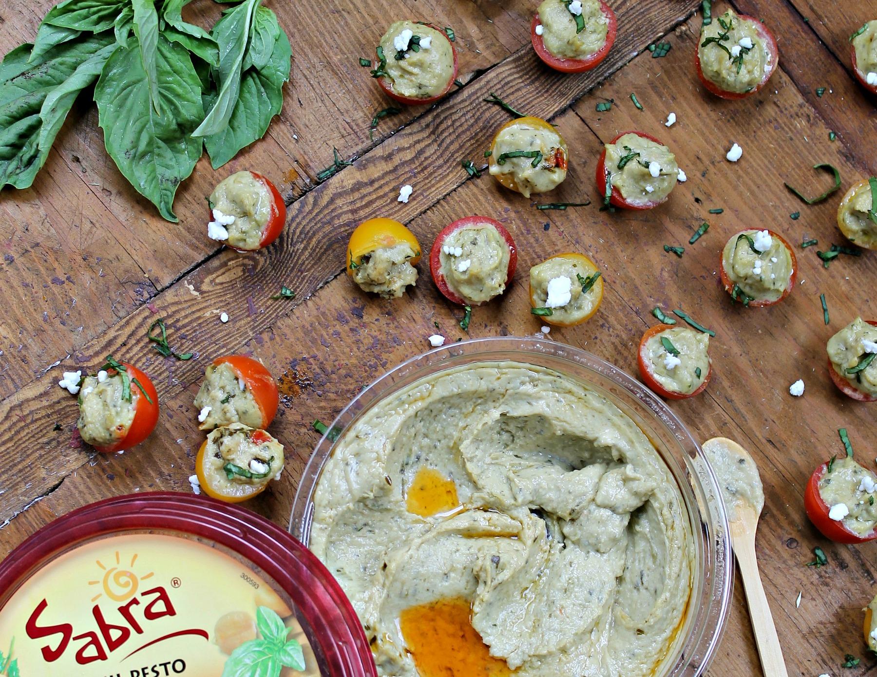 Hummus Stuffed Tomatoes-2