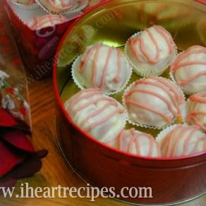 Strawberries and Cream Cake Truffles