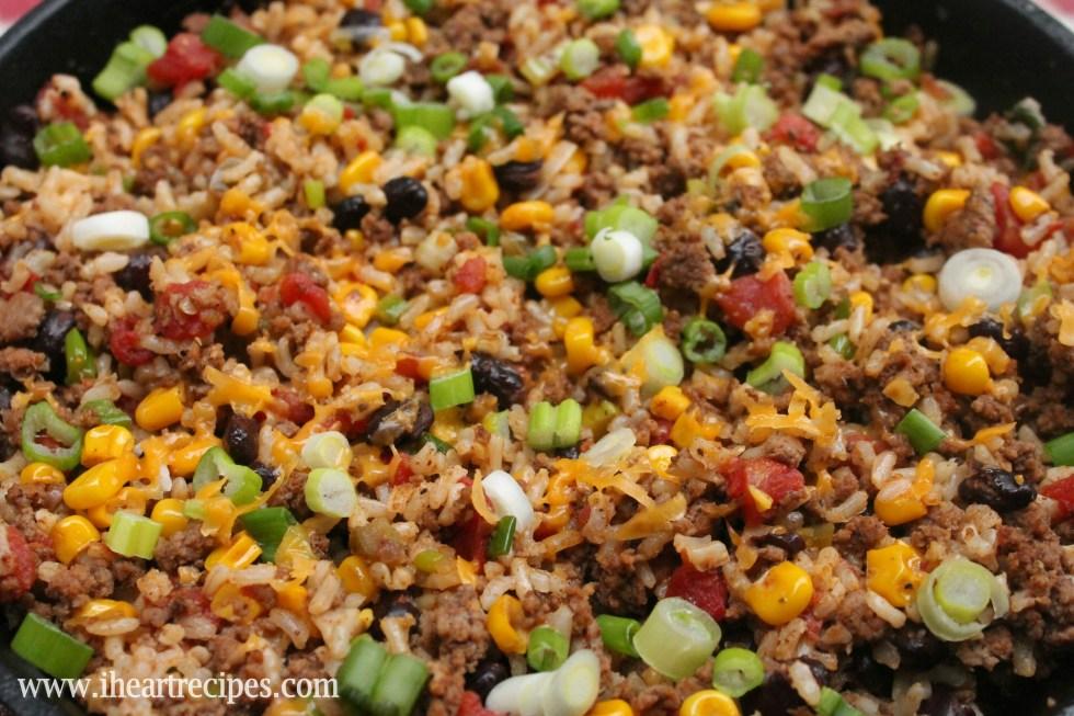 Tex Mex Ground Beef Skillet I Heart Recipes