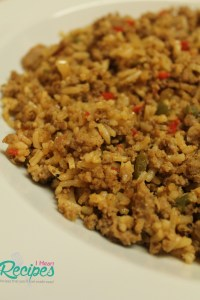 Dirty Rice made with Ground turkey!