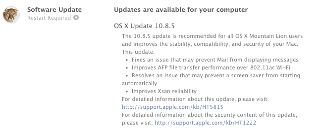 os x 10.8.5 update  Apple has doubled 802.11ac Wi-Fi file switch velocity  in OS X Mountain Lion 10.eight.5 os x 10
