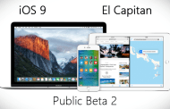 Apple Seeds iOS 9 Public Beta 2, El Capitan Public Beta 2